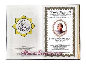 Al-Quran Souvenir 40 Hari Mengenang Wafat Al-Hamid 120 pcs
