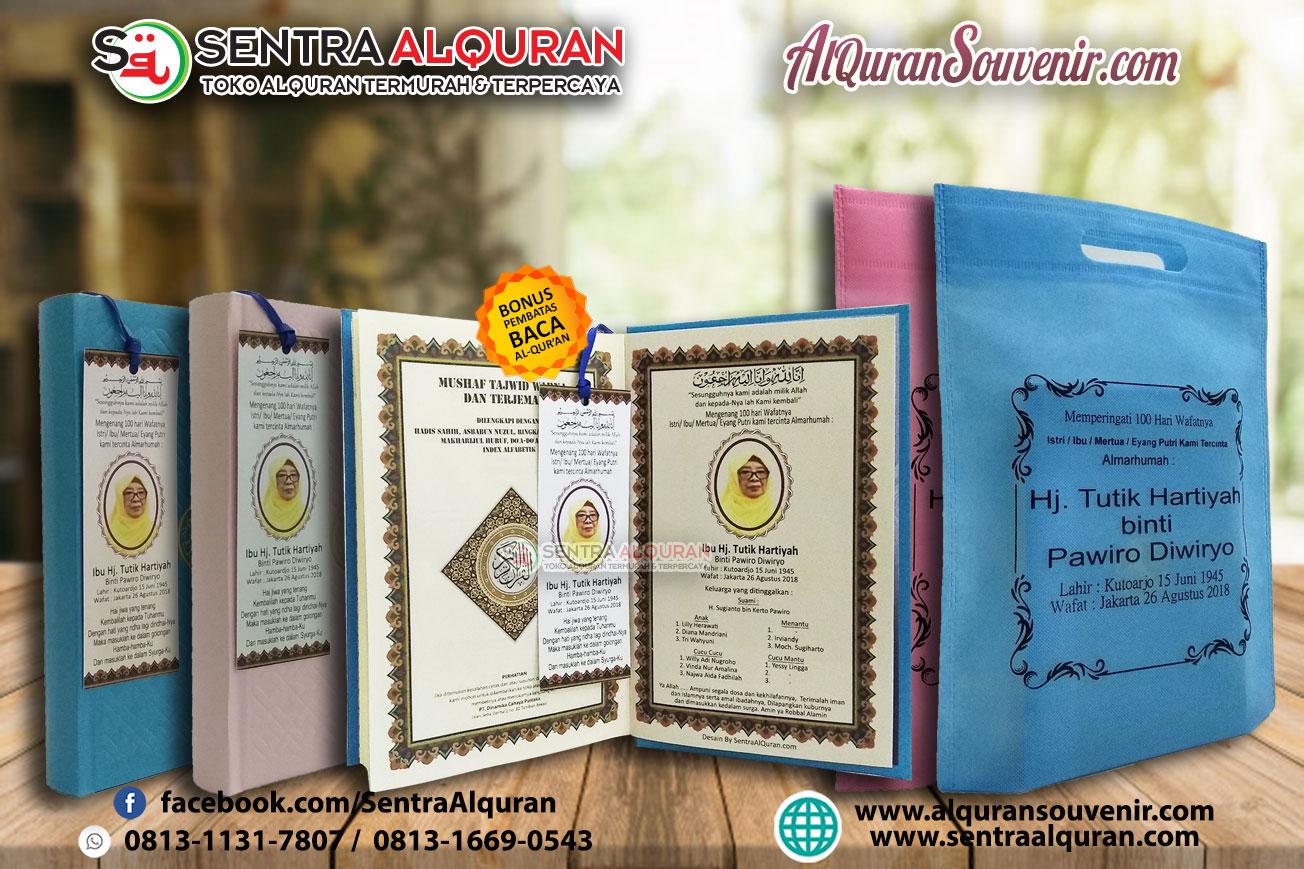 Pesanan Custom Cover 100 pcs Al-Quran Souvenir Untuk Peringatan 100 Hari + Goodybag