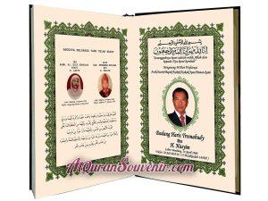 Bukti Transfer DP Pemesanan Al-Quran Cordova dan Mumayyaz 150 pcs, Quran Souvenir Pengajian 40 Hari Wafat