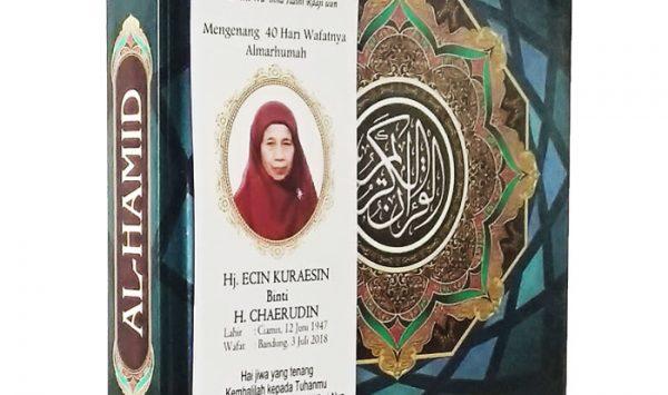 Pesanan 100 pcs Al-Quran Souvenir 40 Hari Meninggal