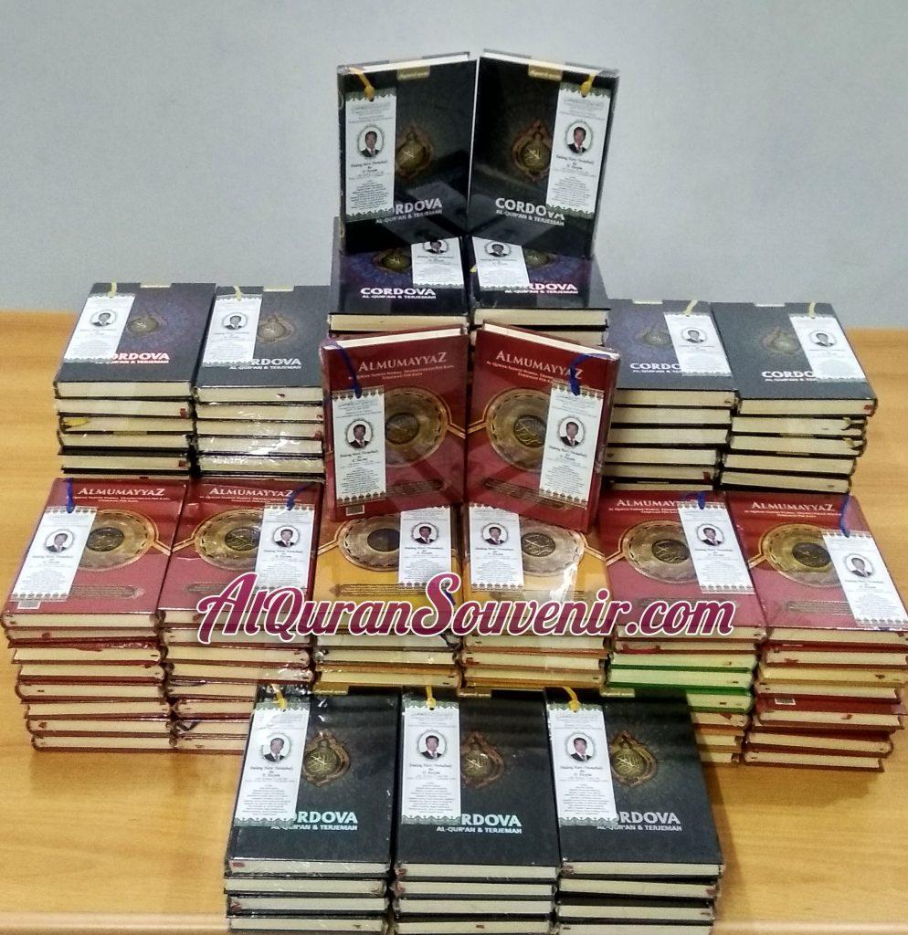 Pemesanan Al-Quran Cordova dan Mumayyaz 150 pcs, Quran Souvenir Pengajian 40 Hari Wafat
